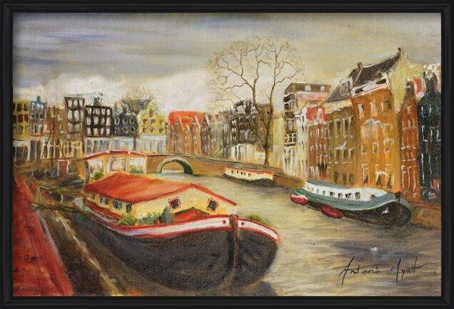 Fine Art Print Red House Boat, Amsterdam, 1999