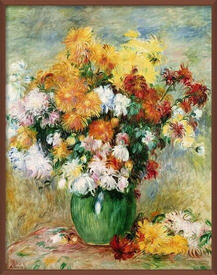 Fine Art Print Bouquet of Chrysanthemums, c.1884