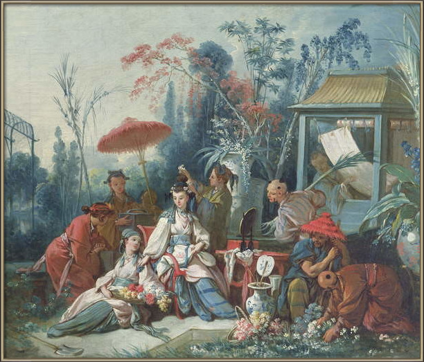 Fine Art Print The Chinese Garden, c.1742