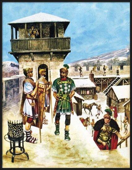 Fine Art Print  A Roman army fort in Britain