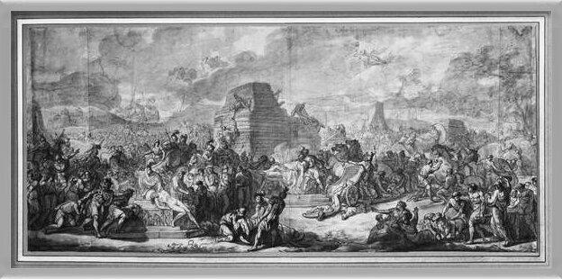 Fine Art Print  Funeral of Patroclus