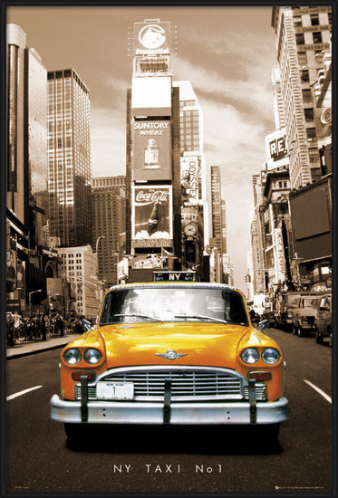 New York Taxi no.1 - sepia Poster