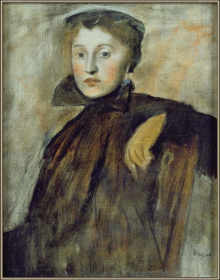 Fine Art Print Study for a Portrait of a Lady, 1867 (oil on canvas)