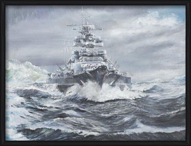 Fine Art Print Bismarck off Greenland coast 23rd May 1941, 2007,