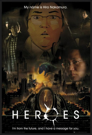 HEROES - message (hiro) Poster