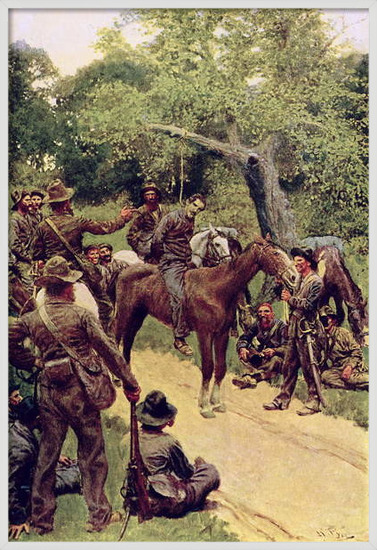 Fine Art Print 'They Talked It Over - With Me Sitting on the Horse', illustration from 'Landegon' by William Gilmore Beymer, pub. in Harper's Magazine, November 1909