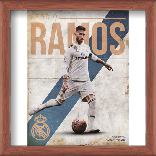 Real Madrid - Ramos Art Print