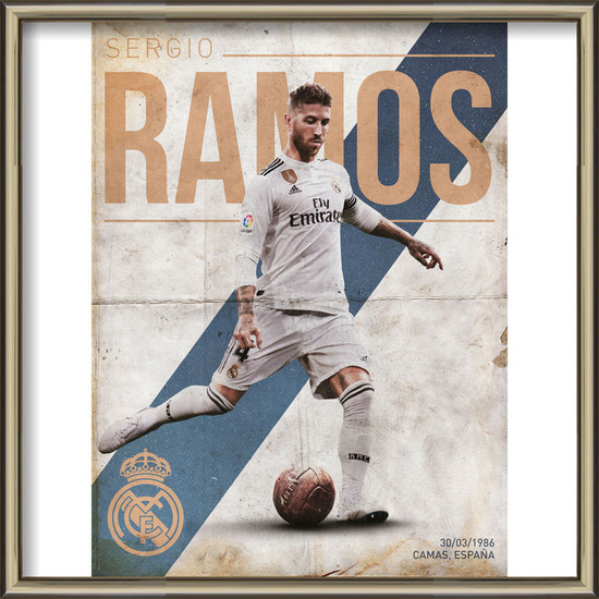 Real Madrid - Ramos Art Print