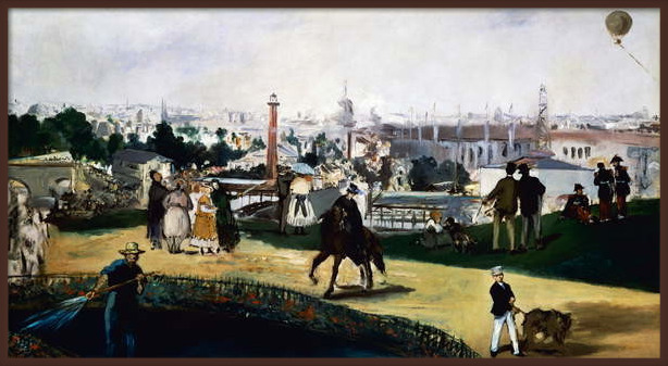 Fine Art Print Edouard Manet , View of the Universal Exposition in Paris, 1867, oil on canvas. France, 19th century.