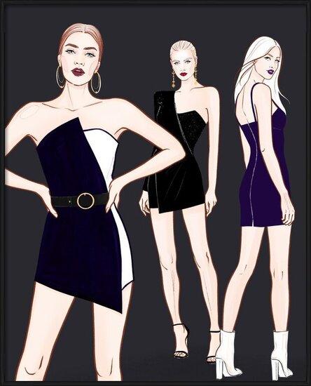 Art Print on Demand Fashion Girls - 2