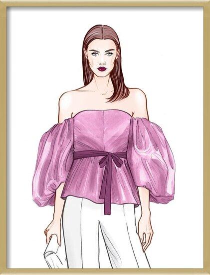 Art Print on Demand Fashionable Business girl