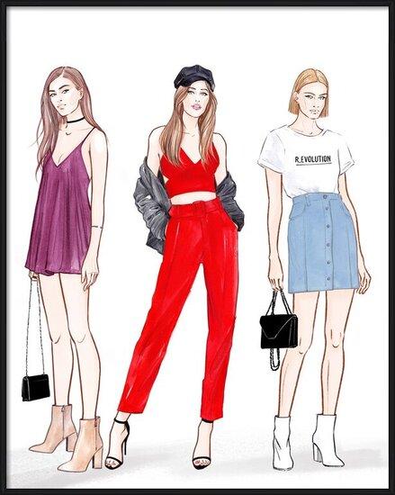 Art Print on Demand Trendy Girls