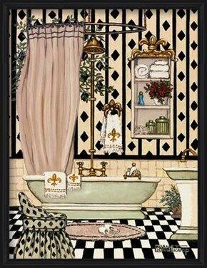Elegant Bath II Art Print