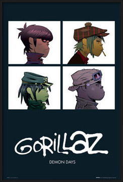 Gorillaz - demon days Poster