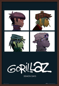 Gorillaz - demon days Poster