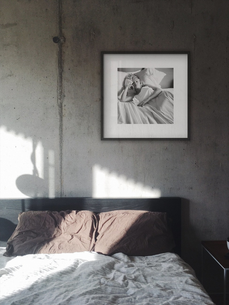 Marilyn Monroe - Bed Art Print