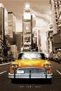 New York Taxi no.1 - sepia