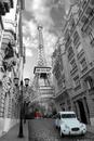 Paris - red girl blue car
