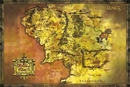 The Lord Of The Rings - Middle Earth Map