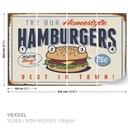 Retro Poster Hamburgers