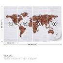 Brick Wall World Map