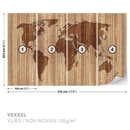 World Map Wood