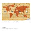 World Map Wood Planks