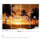 Beach Tropical Sunset Palms
