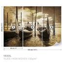 City Venice Gondolas Boats Sepia