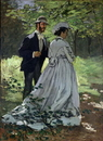 The Promenaders, or Claude Monet Bazille and Camille, 1865