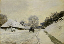 The Cart, or Road under Snow at Honfleur, 1865