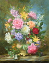 Peonies and mixed flowers